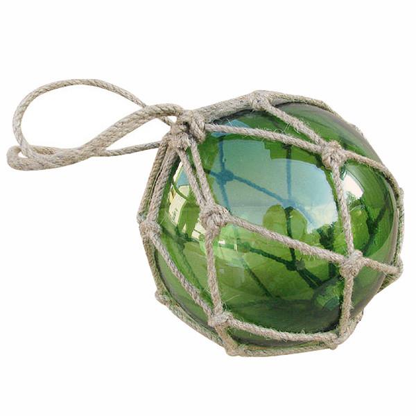 Fischer-Kugel, grün, Glas mit Netz, Ø: 15cm