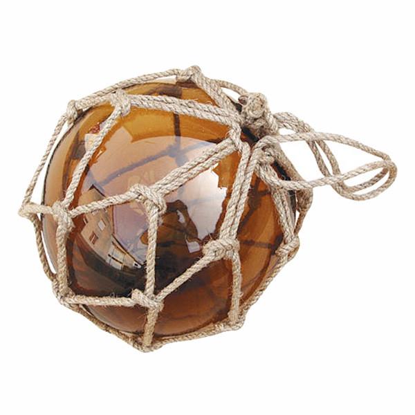 Fischer-Kugel, amber, Glas mit Netz, Ø: 15cm