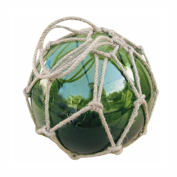 Fischer-Kugel, grün, Glas mit Netz, Ø: 17,5cm