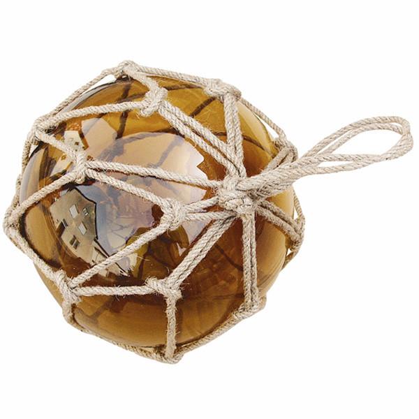 Fischer-Kugel, amber, Glas mit Netz, Ø: 17,5cm