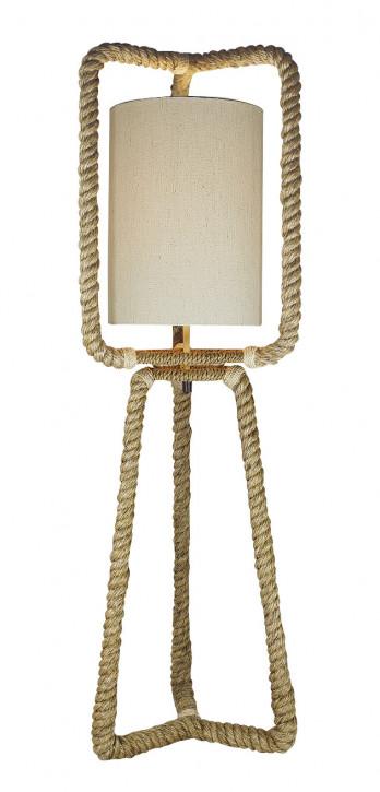 Taulampe mit Schirm, elektrisch 230V, E27, 60W, H: 100cm, Ø:30cm