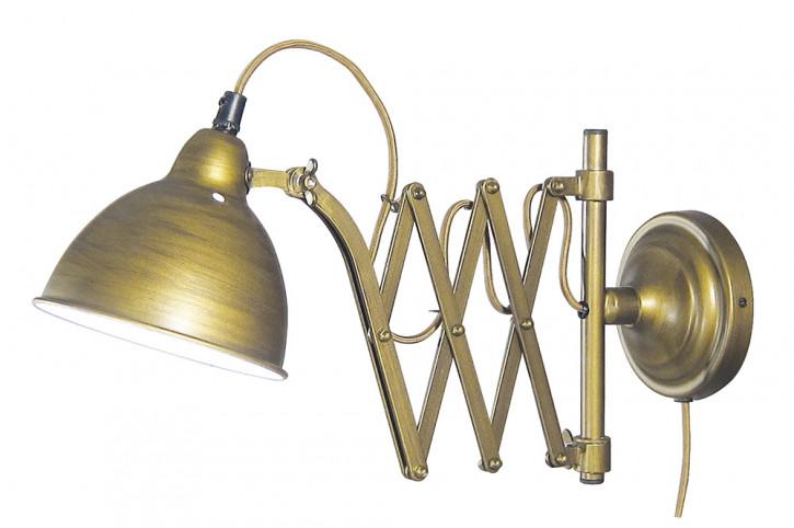 Wand-Leuchte, Eisen, elektrisch 230V, E14, 40W, H: 23cm, Ø: 15cm, L: 39/73cm