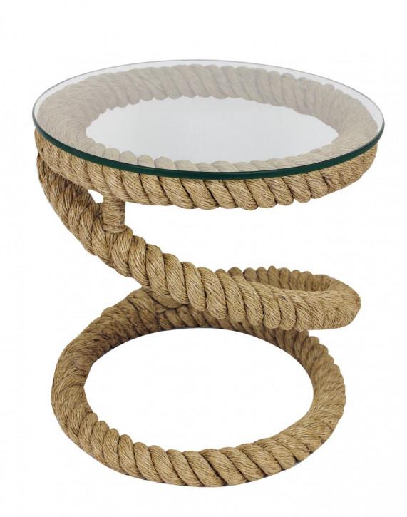 Tisch - Tau, mit Glasplatte, H: 51cm, Ø: 50cm