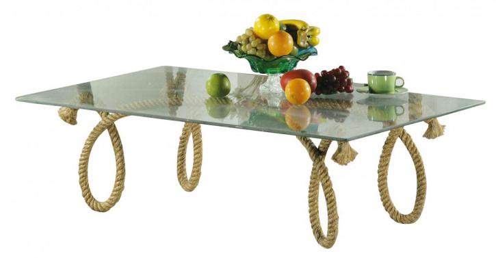 Tisch - Tau, mit Glasplatte, H: 37,5cm, 120x75cm