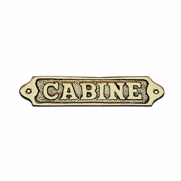 Türschild - CABINE, Messing, 14,5x3,5cm