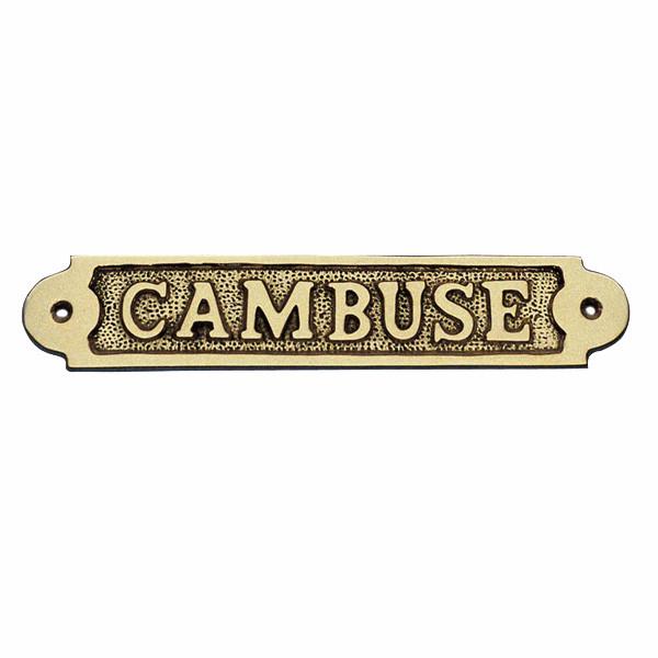Türschild - CAMBUSE, Messing, 19x3,5cm