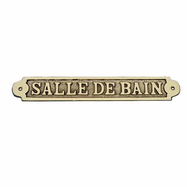 Türschild - SALLE DE BAIN, Messing, 25x3,5cm