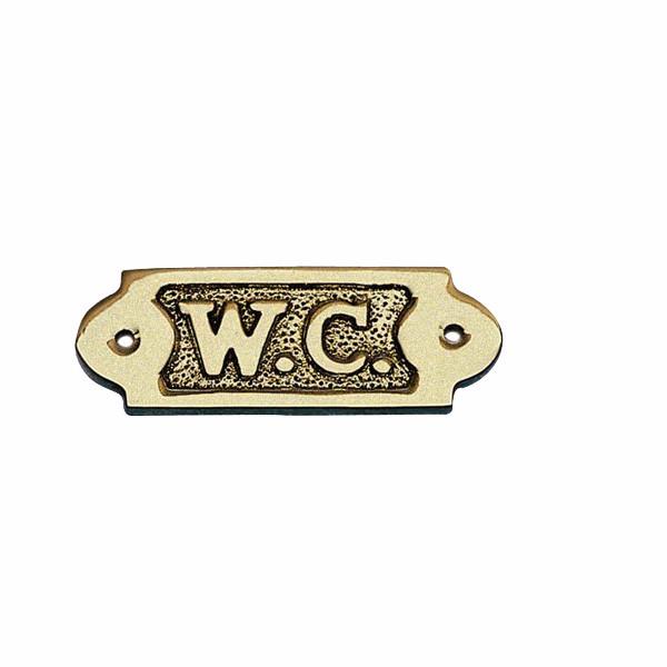 Türschild - W.C., Messing, 9x3,5cm