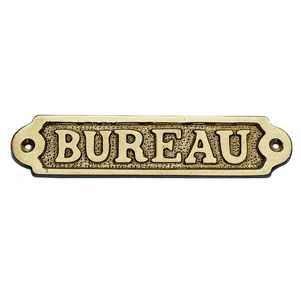 Türschild - BUREAU, Messing, 14,5x3,5cm