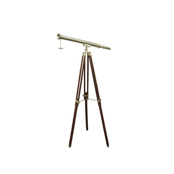 Stand-Teleskop, Messing, L: 69cm, H: 130cm