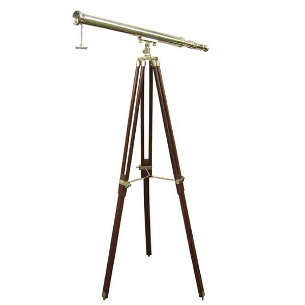 Stand-Teleskop, Messing, L: 100cm, H: 160cm