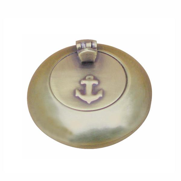 Taschen-Klappaschenbecher, Messing antik, Ø: 6cm