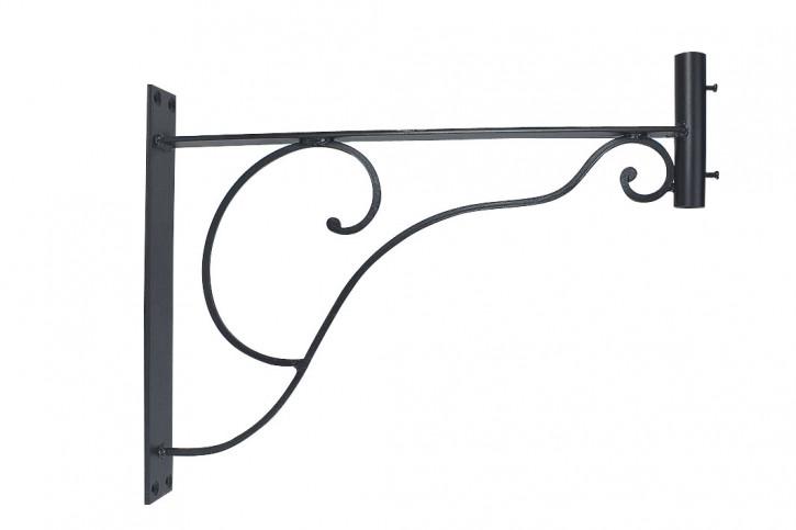 Wandhalter für Wetterfahnen, Eisen schwarz lackiert, 48,5x38x5cm