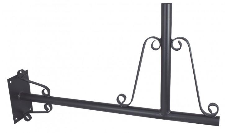 Wandhalter für Wetterfahnen, Eisen schwarz lackiert, 61x37,5x10cm
