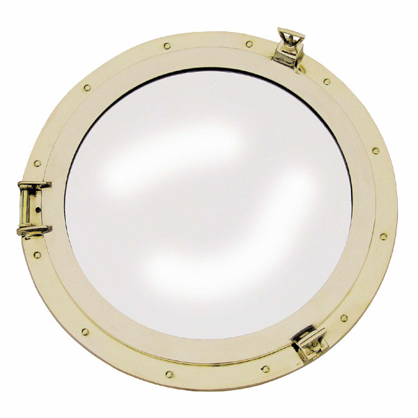 Bullaugen-Spiegel, Messing, Ø: 50cm