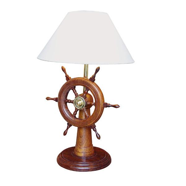 Lampe - Steuerstand, Holz, elektrisch 230V, E14, H: 55cm, Ø: 21,5/35cm