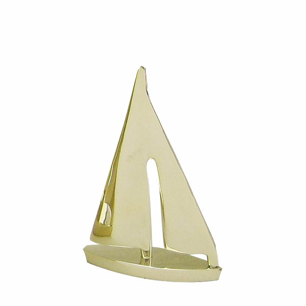 Segel-Yacht, Messing, L: 10cm, H: 15cm