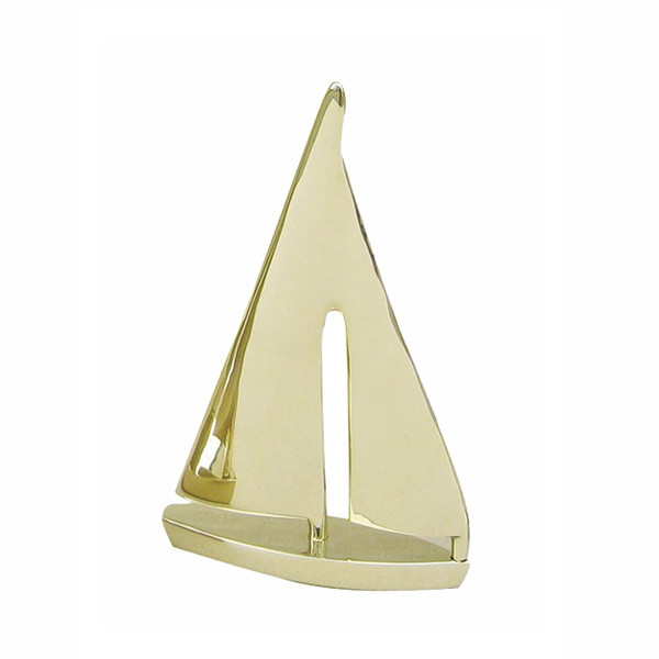 Segel-Yacht, Messing, L: 12cm, H: 19cm