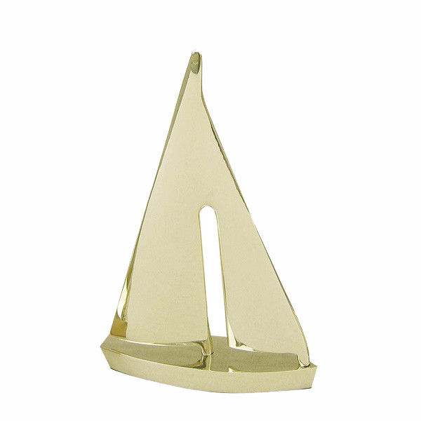 Segel-Yacht, Messing, L: 15cm, H: 22cm