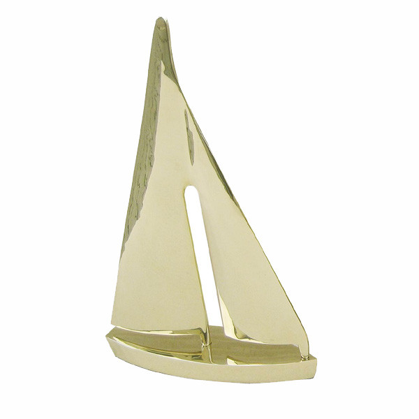 Segel-Yacht, Messing, L: 20cm, H: 31cm