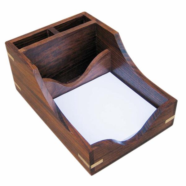 Zettel-Stift-Box, Holz, 11,5x17x8cm