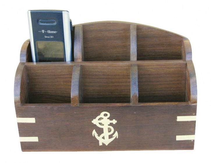 Holz-Rack, 20x9x12,5cm, 6 Fächer für Handys, Fernbedienungen oder auch Anderes