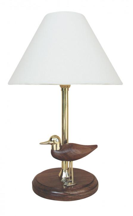 Lampe - Möwe, Holz/Mesing, elektrisch 230V, E14, H: 39cm, Ø: 15/25cm