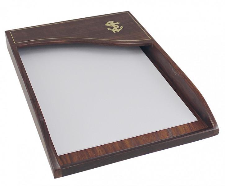 Ablage für Papier, Holz, 24x34x3,5cm