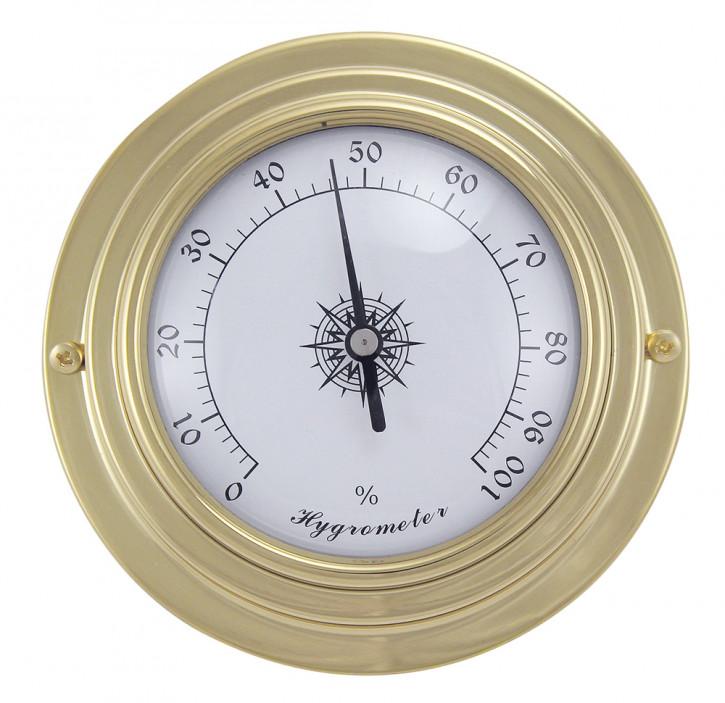 Hygrometer, Messing, Ø: 9,8/6,3cm, H: 3cm