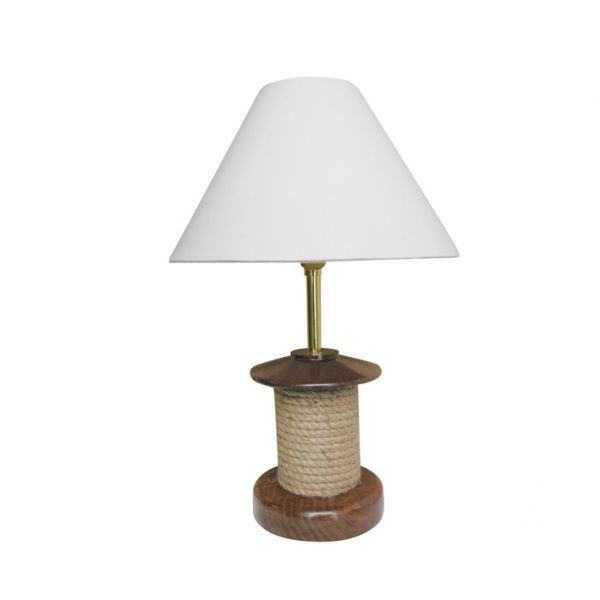 Lampe - Tau, elektrisch 230V, Holz/Messing, H: 39cm, Ø: 12,5/25cm