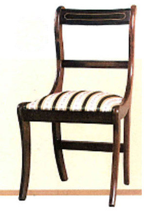 White line dining chair