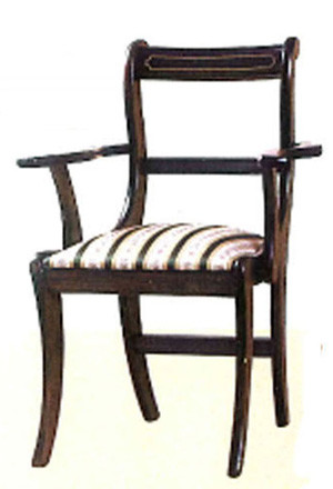 White line dining armchair