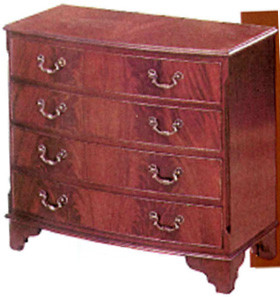 Four drawer bow fronted chest