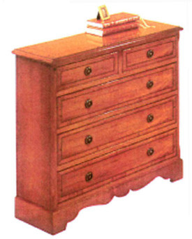 Five drawer hall chest   auch  in Mahagoni
