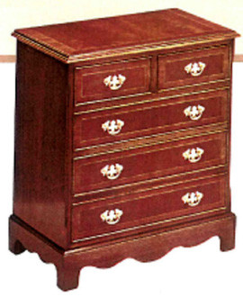 Hat fronted five drawer chest