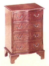 Four drawer serpentine front chest