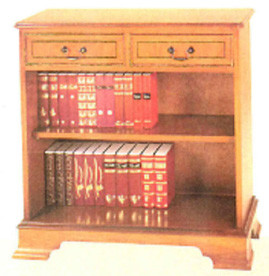 Two drawer open bookcase  .auch  in Mahagoni