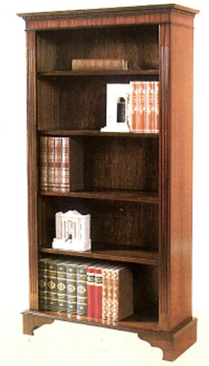 Four shelf open bookcase auch in Eibe
