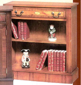 One drawer marquetry inlay bookcase .auch  in Mahagoni