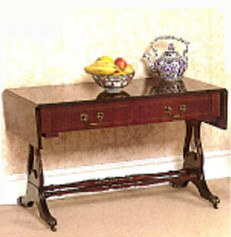 Devonshire table two drawers, mahogony or yew