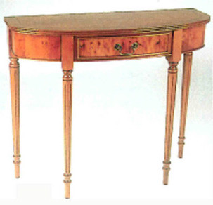 Console table one drawer, mahogony or yew