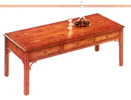 Six   6 drawer chippendale coffee table  Sofatisch