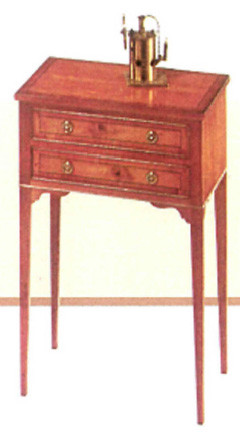 Two drawer bedside table   auch  in Mahagoni