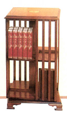 Großes Revolwing bookcase mit Intarsien