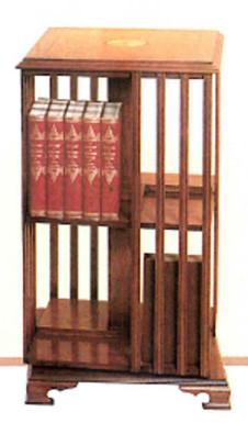 """Tall Revolving Bookcase"" mit Intarsien"