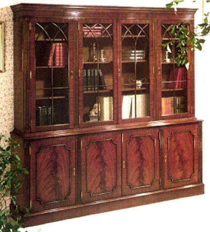 "Gothic Bookcase ""Dark Flame"" Mahagoni oder Eibe"