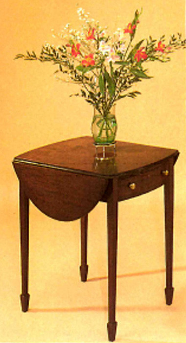 Oval pembroke table with drawer. Mahagony. auch in Eibe