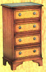 4 drawer flat. Mahogony or yew
