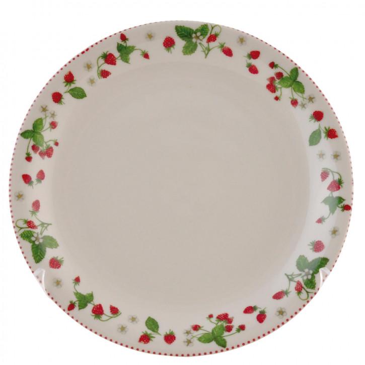 Kleiner Teller mit Erdbeerrand Ø20cm Strawberry Garden