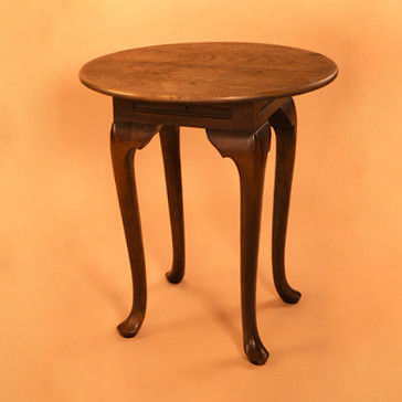 """Round Coffee Table - Cabriole Leg"" - kleiner Tisch"